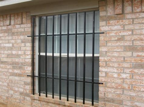 home security window bars metal window security bars