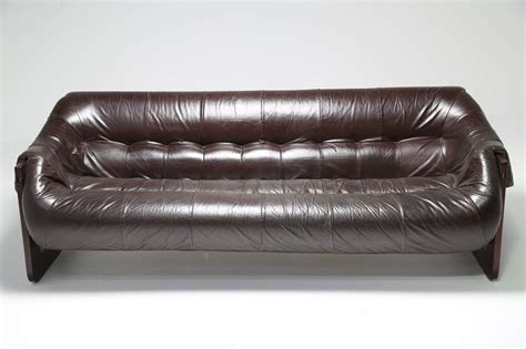 lafer sofa leather and rosewood percival lafer sofa at 1stdibs