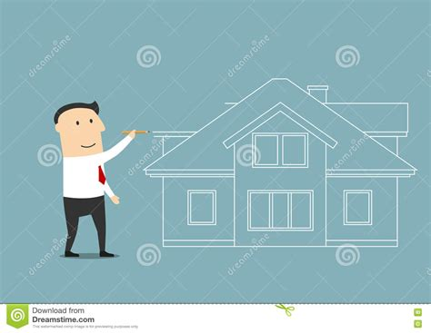 businessman planning to buy a home stock vector image
