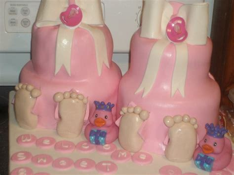 Baby Shower cake for twin girls   Custom Birthday or Special Occasion cakes   Pinterest   Twin