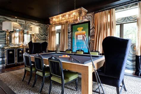 Home Designer Suite Pool Table Masculine Pool Table Dining Room With Deco Elements