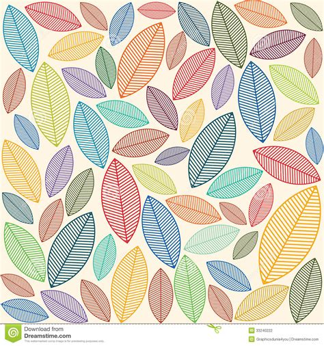 leaf pattern vector background a seamless pattern with leaves stock photography image