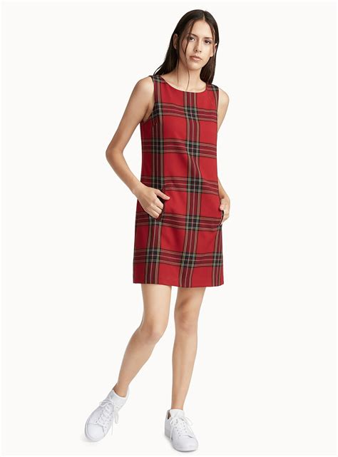 Plaid Jumper Dress scottish plaid jumper dress ic 244 ne shop knee length