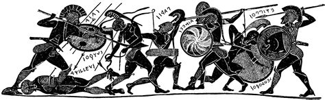 Greek Vase Pictures Greek Soldiers In Arms Clipart Etc
