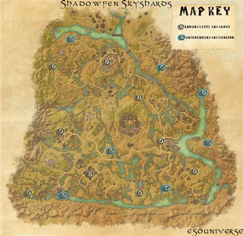 skyshard eso locations map elder scrolls online shadowfen skyshard location guides