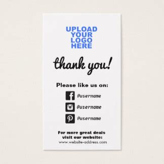 Instagram Business Cards And Business Card Templates Zazzle Canada Business Card Template With Social Media Icons