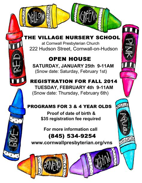 7 best images of preschool open house flyer template