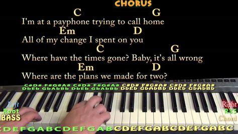 tutorial piano payphone payphone sheet music piano free pdf maroon 5 ft wiz