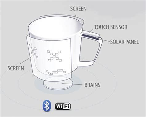 mug design competition world s first wi fi coffee mug broadcasts your mood