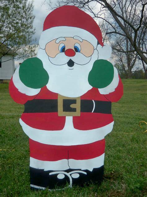 santa wood holiday yard art decoration piece  christmas
