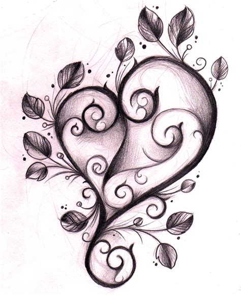 heart tattoo design sketch by willemxsm on deviantart