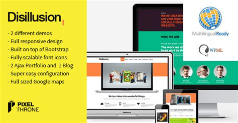 wordpress different layout per page themeforest disillusion v1 3 22 responsive one page