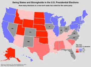 us election swing states map the shrinking battleground every 4 years fewer states
