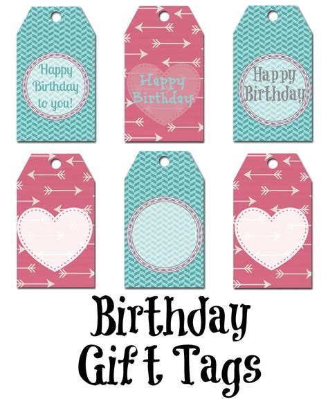printable birthday gift tags templates happy birthday gift tag gift tags pinterest gift