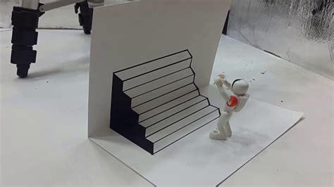 cara membuat gambar 3d gang belajar cara menggambar 3d di kertas untuk pemula yang