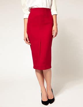 below the knee pink pencil skirt professional