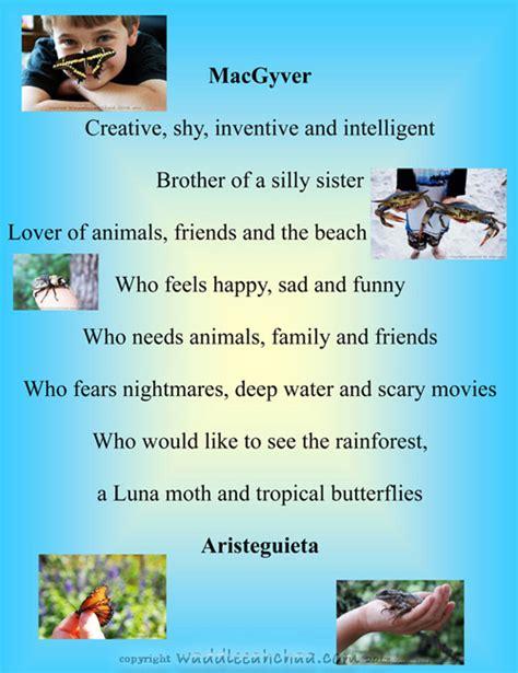 biography exles for kids bio poem exles