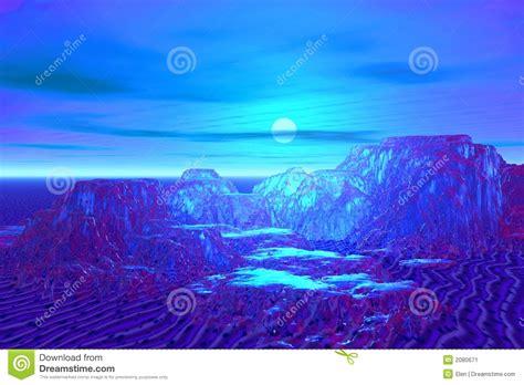 blue moon landscape stock image image 2080671