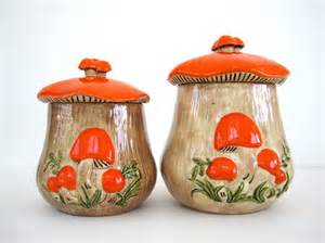 kitchen canister sets ceramic vintage canister set ceramic kitchen orange by brooklynstvintage