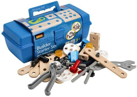 brio tool brio builders starter set tool box 48 pieces wooden