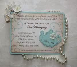 bridal tea invitations bridal by toriscustomcreations