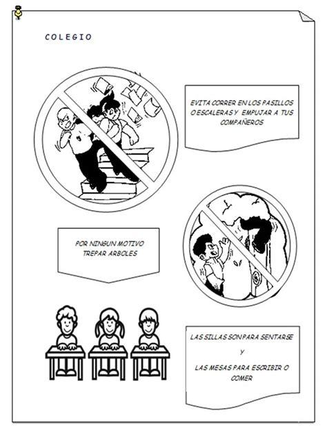 imagenes para colorear prevencion de accidentes cultura f 237 sica infantil