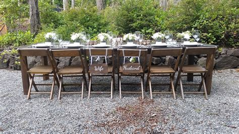 outdoor farm table and bench olympic farm style events event rentals