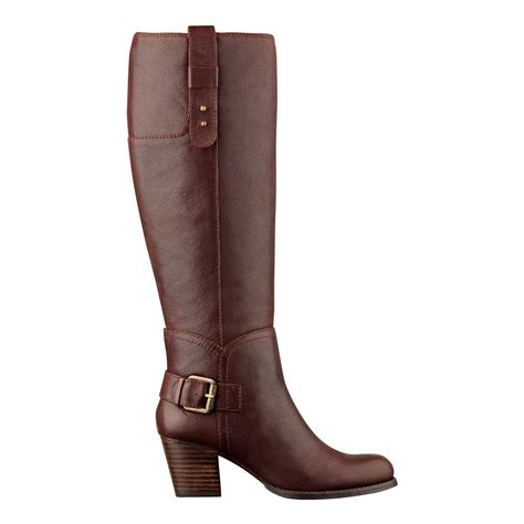 west boots nine west crabshack boot in brown cognac leather lyst