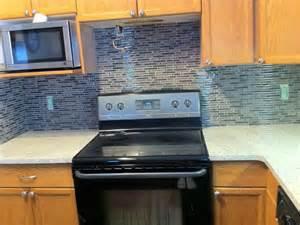 blue gray tile backsplash home design ideas