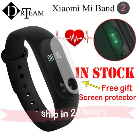 Terlaris Xiaomi Mi Band 2 Oled Original Free 2 Screenguard Lpi1175 original xiaomi mi band 2 pulse smart bracelet oled 0 42 inch rate monitor smart wristband