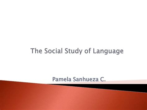 the study of language the social study of language
