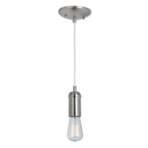 globe electric 1 light brushed steel mini pendant with