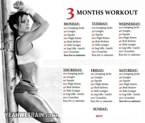 home workout plans for women 3 months workout plan for women sixpack butt legs