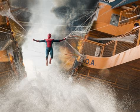 spiderman homecoming boat fight scene hd  wallpaper