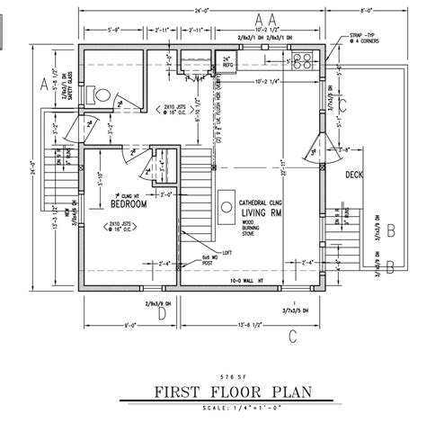 24 x 24 cabin floor 24x24 cabin plans with loft house plans