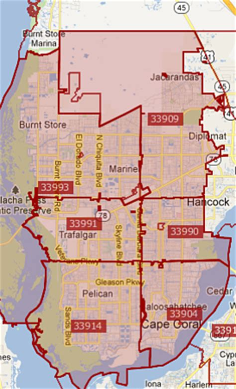 fort myers florida zip code map search cape coral real estate by zip code cape coral zip