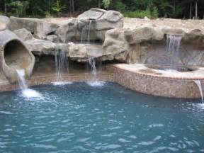 how to build a waterfall into a pool how can you make your pool more attractive interior