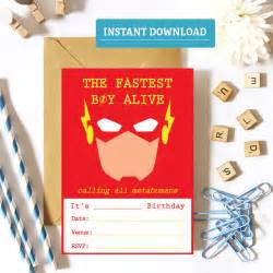 the flash birthday invitation printable flash party