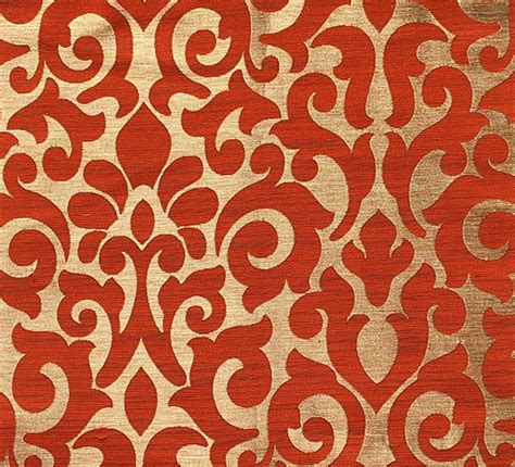 damask pattern curtains custom curtains with burnt orange gold damask pattern one