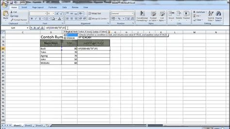 Contoh Microsoft Excel contoh database excel 2007 id db