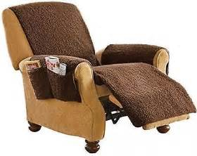 chair covers for living room dining fleece recliner brown