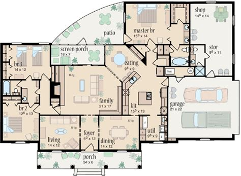 Country Style House Plans 2183 Square Foot Home 1 Country 3 Bedroom House Plans