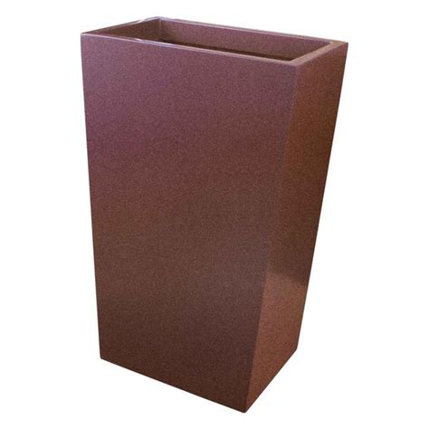 narrow tapered rectangular planter fiberglass 26 quot 30