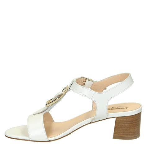 Sandals Handmade - white leather heeled strappy sandals handmade leonardo