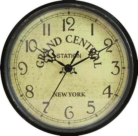 geneva 9 inch plastic wall clock grand central station