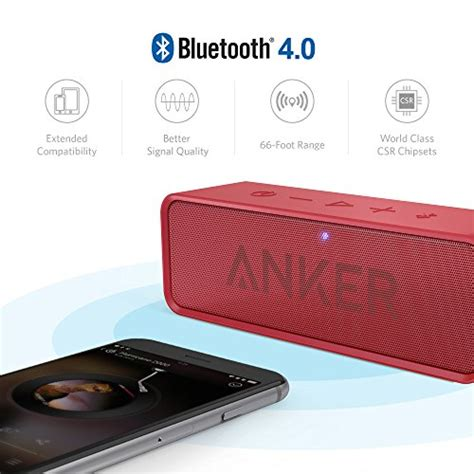 Anker Soundcore Bluetooth Speaker Dual Driver 24 Hours Playtime anker soundcore bluetooth speaker with 24 hour playtime 66 foot bluetooth range built in mic
