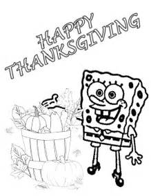Spongebob Thanksgiving Coloring Pages spongebob harvest thanksgiving coloring page h m