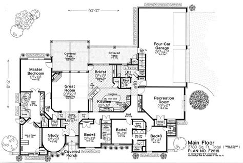 Fillmore House Plans F2518 Fillmore Chambers Design