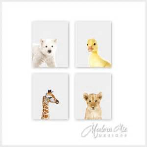 Zoo Animal Nursery Decor Zoo Animals Nursery Decor Baby Animal Prints Safari Nursery