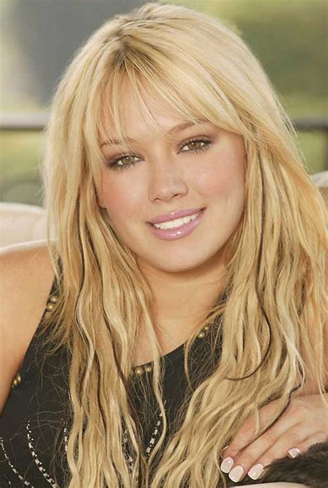 Hilary Duff Hairstyles by 20 Haircuts With Bangs For Faces Hairstyles